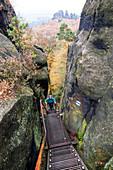 Autumn tour on the Malerweg in Elbsandstein, Germany