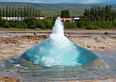 Geysir Strokkur am Golden Circle, Island, Europa