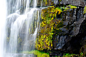 Detailed pictures of the Kvernufoss waterfall, Iceland, Europe