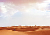 The Sahara desert in southern Morocco