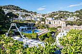 View of Capri town, Capri island, Gulf of Naples, Italy