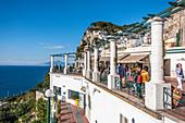 Entrance to Funicolare on Piazetta vo Capri, Capri Island, Gulf of Naples, Italy