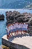 The Fontelina lifeguards on Capri, Capri Island, Gulf of Naples, Italy