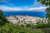 View of Anacapri and the Gulf of Naples, Capri Island, Gulf of Naples, Italy