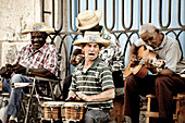 Street musicians in the capital of Cuba, Havana