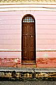 A wood front door. Trinidad. Cuba