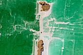 Salzformationen im Toten Meer, Luftaufnahme, Israel