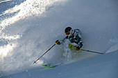 January, winter, skiing, skiing, deep snow, powder, Hochzillertal, Tyrol, winter sports, masses of snow