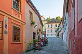 Alley in Sighisoara, Transylvania, Romania