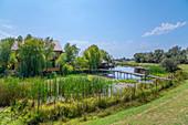 Canal in Sfantu Gheorghe, Danube Delta, Biosphere Reserve, UNESCO World Heritage Site, Dobruja, Romania