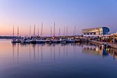 Sports port of Constanta in the evening, Dobruja, Black Sea coast, Romania