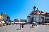 Ovid Square with the National Museum of History and Archeology in Constanta, Dobruja, Black Sea Coast, Romania