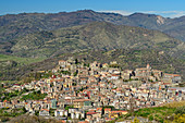 View of Castiglione di Sicilia, Sicily, Italy
