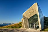 Messner Mountain Museum Kronplatz with Marmolada, Corones, architect Zaha Hadid, Kronplatz, Puster Valley, Dolomites, South Tyrol, Italy