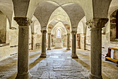 Crypt of the Collegiate Church of Innichen, Romanesque, Innichen, Puster Valley, Dolomites, South Tyrol, Italy