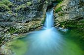 Wasserfall, Kuhfluchtfälle, Estergebirge, Bayerische Alpen, Oberbayern, Bayern, Deutschland