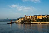 Stadtansicht, Morgenstimmung, Bastia, Korsika, Frankreich