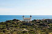 Lighthouse on the south coast of Corsica, Fanali di Senetosa, near Sartène, Corse-du-Sud, Corsica, France
