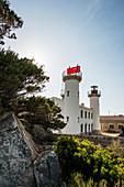 Leuchtturm an der Südküste Korsikas, Fanali di Senetosa, bei Sartène, Département Corse-du-Sud, Korsika, Frankreich