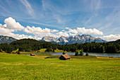 Geroldsee, bei Mittenwald, Karwendel, Alpen, Bayern, Deutschland
