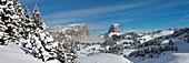 France, Isere, Parc Naturel Regional du Vercors (Vercors Natural Regional Park), Mont Aiguille (2086 m) from the highlands of Vercors