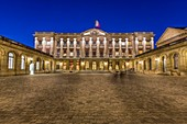 France, Gironde, Bordeaux, courtyard of the Town Hall called Palais Rohan name of the prelate who had built in the last quarter of the 18th century, Ferdinand Maximilian Mériadeck, Prince of Rohan Guémené