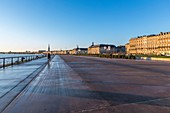 France, Gironde, Bordeaux, area listed as World Heritage by UNESCO, the quays of the left bank of the Garonne