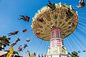 France, Paris, the Foire du Trone (amusement park in spring in Paris) at Bois de Vincennes
