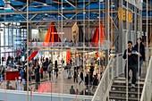 France, Paris, Entrance Hall Centre Pompidour