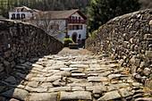 France, Pyrenees Atlantiques, Basque Country, Saint Etienne de Baigorry, Roman bridge