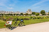 France, Paris, area listed as World Heritage by UNESCO, the Tuileries Gardens, listed as historical monuments in 1914
