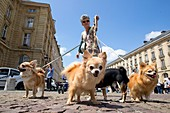 France, Paris. Demonstration for dog conservation in cities.