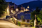 France, Hautes Pyrenees, Aulon, located in the buffer zone of the International Dark Sky Reserve, this village is a pilot site for the program to improve public lighting