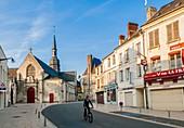 France, Aisne, Villers Cotterets, downtown, Saint Nicolas church
