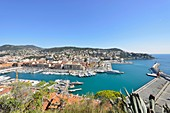 France, Alpes-Maritimes, Nice, the old port from the castle hill