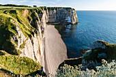 France, Seine Maritime, Pays de Caux, Alabaster Coast, Etretat, Aval cliff, La Manneporte