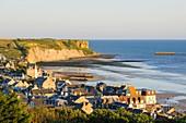 Frankreich, Calvados, Arromanches les Bains, historischer Ort der Normandie-Landungen