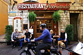 France, Alpes Maritimes, Nice, the old town district, Acchiardo restaurant, Kitchen Labeled Nissarde