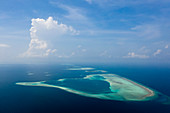 Aerial view South Male Atoll, South Male Atoll, Indian Ocean, Maldives