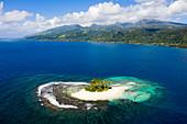 Insel bei Mitirapa, Tahiti, Französisch-Polynesien