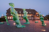 Traveler giant at dusk, Westerland, Sylt, Schleswig-Holstein, Germany
