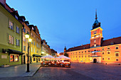 Castle Square, historic square in front of the Royal Castle, the former official residence of Polish monarchs, old town, Warsaw, Mazovia region, Poland, Europe