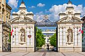 University of Warsaw, main gate, Krakowskie Przedmiescie street, Warsaw, Mazovia region, Poland, Europe\n\nWarszawa, Mazowieckie\nUniwersytet Warszawski, brama glowna, ul. Krakowskie Przedmiescie\n\nWarsaw, Mazovia\nUniversity of Warsaw, main gate, Krakowskie Przedmiescie street