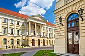 University of Warsaw, main buildings, Krakowskie Przedmiescie street, Warsaw, Mazovia region, Poland, Europe\n\nWarszawa, Mazowieckie\nUniwersytet Warszawski, ul. Krakowskie Przedmiescie\n