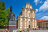 Krakowskie Przedmiescie street, Church of the Visitation Sisters, memorial of Primate Cardinal Stefan Wyszynski, Warsaw, Mazovia region, Poland, Europe