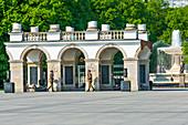 Tomb of the Unknown Soldier, Pilsudski square, Saski garden, Warsaw, Mazovia region, Poland, Europe\n\nWarszawa, Mazowieckie\npomnik nieznanego zolnierza, plac Pilsudskiego, ogrod Saski\n
