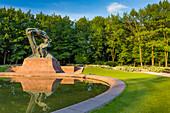 Frederic Chopin monument, Royal Garden in Warsaw, called Lazienki Krolewskie, Warsaw Mazovia region, Poland, Europe\n\nWarszawa, Mazowieckie\nPark Lazienki Krolewskie, pomnik Chopina\n