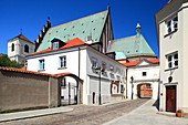 Kanonia street and the roof of Warsaw's cathedral, Old Town, Warsaw, Mazovia region, Poland, Europe