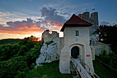 Bobolice Castle is a 14th-century royal castle in the village of Bobolice, Poland. The complex is located within a semi-mountainous highland region called the Polish Jura. Poland, Europe.