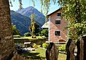Mountain village Guarda in the Lower Engadine, Graubünden, Switzerland